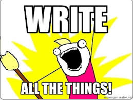 Writers-just write it, you know you want to